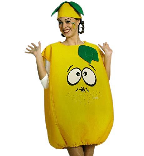 Kostüm Erwachsene Für Zitrone - FKW Keller Kostüm Zitrone Limone Oberteil mit Mütze Einheitsgröße