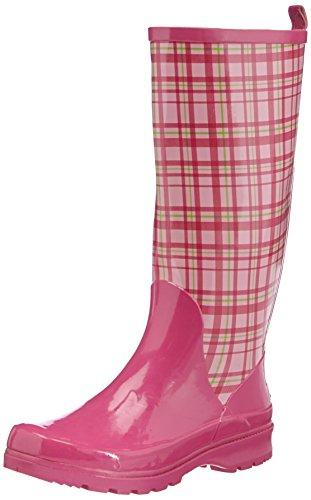 Playshoes Trendiger Damen Karo Gummistiefel Pink (rose 14) 40 EU