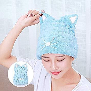 Toalla de baño de secado rápido para el cabello