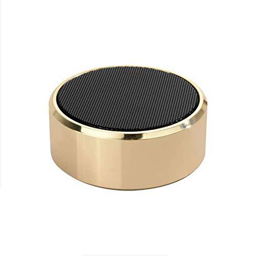 NFY Tragbare Lautsprecher Bluetooth Speaker unterstützen TF-Karte wiederaufladbaren Sound Wireless Subwoofer Outdoor-Boombox,Gold