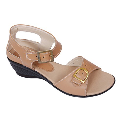 Footshez Women's Beige Fashion Sandal - 39