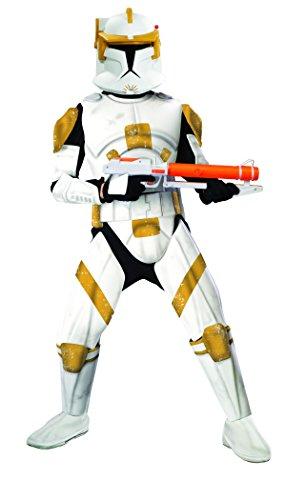 Kostüm Wars Cody Commander Star (Rubies Deutschland 3 888807 XL - Deluxe Clonetrooper Commander Cody Größe)