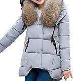 TianWlio Mäntel Frauen Weihnachten Damen Mantel Langarm Strickjacke Jacke Outwear Herbst Winter Kapuzen Outwear Winter Warmer Mantel Dicker Pelzkragen Baumwolle Parka Schlanke Jacke