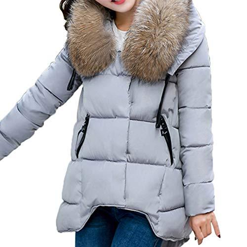 Preisvergleich Produktbild TianWlio Mäntel Frauen Weihnachten Damen Mantel Langarm Strickjacke Jacke Outwear Herbst Winter Kapuzen Outwear Winter Warmer Mantel Dicker Pelzkragen Baumwolle Parka Schlanke Jacke