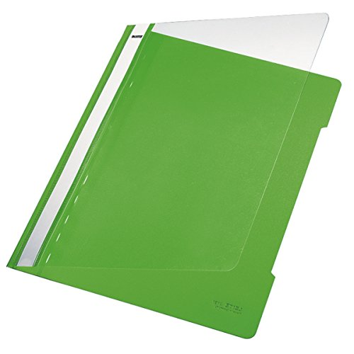 Esselte Leitz Hefter Standard, A4, langes Beschriftungsfeld, PVC, hellgrün