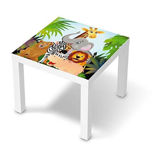 creatisto Möbel-Tattoo für Kinder - passend für IKEA Lack Tisch 55x55 cm I Tolle Möbelfolie für Kinder-Möbel Deko I Design: Wild Animals