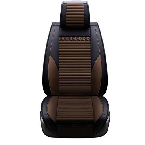 YE Sitzbezügesets Autositzbezug Four Seasons Universal PU Leder Sitzbezug Sitzkissen für fünf...