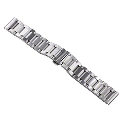 24 mm premio d'argento grandi bande larghe orologi in metallo da uomo sostituzioni tipo pesante (Rolex In Acciaio Inossidabile Oyster)