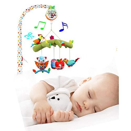 CX TECH Kinderbett-Glocke Baby-Musik Mobile Bettklingelhalter Armhalterung Babygeschenk [Batterie Nicht inbegriffen] - Mobile Arm-unterstützung