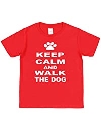 Click My Clobber Kids, T-Shirt, Keep Calm And Walk The Dog