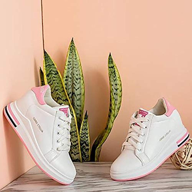 TTscarpe Per Donna Scarpe PU (Poliuretano) Autunno Comoda scarpe scarpe scarpe da ginnastica Zeppa Punta Tonda Nero verde   rosa,rosa,US7... | Di Alta Qualità Ed Economico  c8902b
