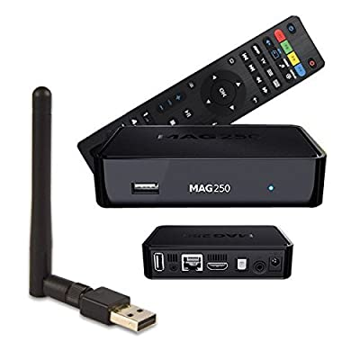 MAG 250 BOX Multimedia player Internet TV Box IPTV Original USB HDMI HDTV + WLAN Stick Mega WiFi USB 150Mbps