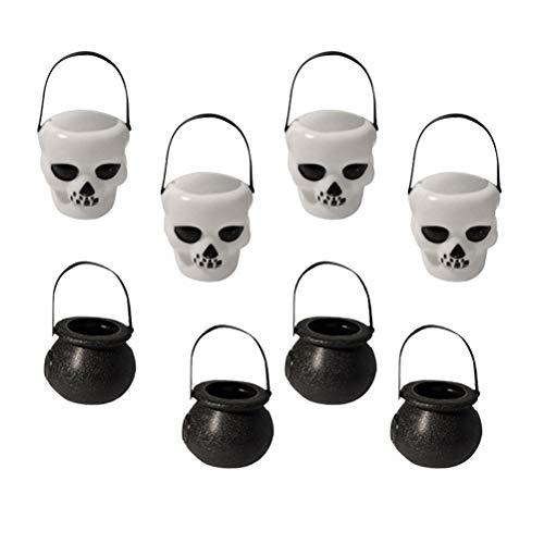 lloween Eimer Mini Jar Schädel Form Candy Eimer Trick Treat Candy Halter für Halloween Party Dekoration Lieferungen ()