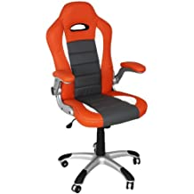 Terena Premium Sportsitz Chefsessel Bürostuhl Racer orange/grau/weiss 38801