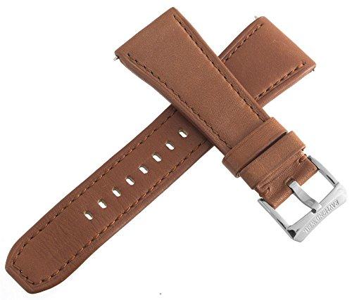 Raymond Weil Herren Braun Leder 26mm Uhrenarmband Stahl Schnalle
