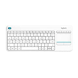 Logitech K400 Plus Touch Wireless Tastatur weiß (QWERTZ, deutsches Tastaturlayout)