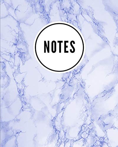 Notes: Marble Stone Royal Blue - Cute Writing Notebook For School, Home & Office - [Classic] Royal Blue Marble