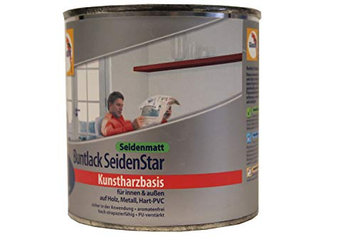 Glasurit Buntlack SeidenStar Seidenmatt Kunstharzbasis 375ml (Wüstensand)