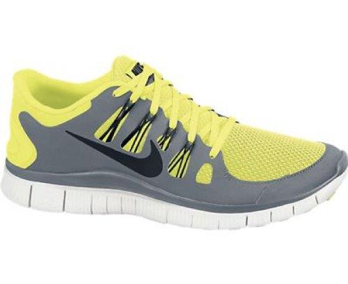 Nike Free 5.0+ Laufschuhe für Herren, - Neongrün-Grau-Weiß - Größe: EU 47 (Free 50 Nike)