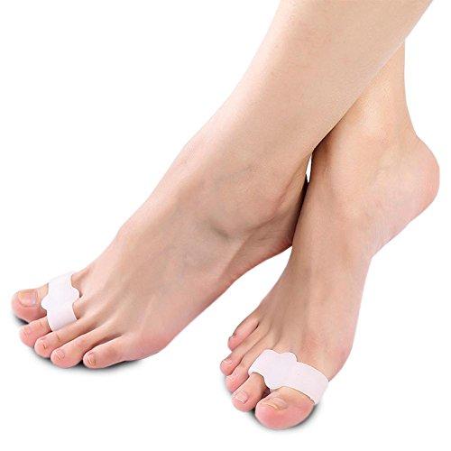 HRRH Überlegene Qualität Silikon Big Toe Separator Bunion Keil Protector Hallux Valgus Corrector Pad Fuß Schmerzlinderung Erwachsene Kinder können Orthese anwenden (Separator Pedifix Gel Toe)