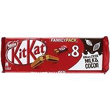 KitKat Galleta recubierta de chocolate con leche (66%) - Paquete de 8 x