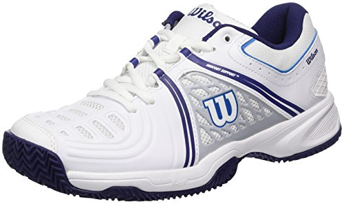 WILSON TOUR VISION V W WH/Pearl Blue/Astral A 7,   Tennisschuhe, Blau (White/Pearl Blue/astral Aura), 41 EU (7 UK)