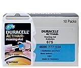 Duracell Activair Battery Aid 675 Hearing 10 Pacchetti Delle sei celle