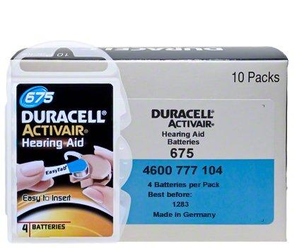 Duracell Hörgeräte Batterien Größe 675 60 Batterien (Duracell Hörgeräte-batterien)