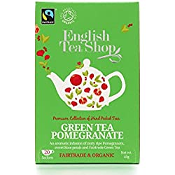 English Tea Shop - Grüner Tee Granatapfel, BIO Fairtrade, 20 Teebeutel