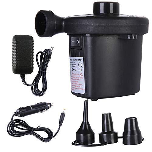 BICMTE Elektrische Luftpumpe Portable Inflate Deflator, Quick-Fill Inflatables Luftmatratze Raft Bett Boat Pool Spielzeug Luftpumpe (Schwarz) (Luft-pumpe Portable Fahrrad)