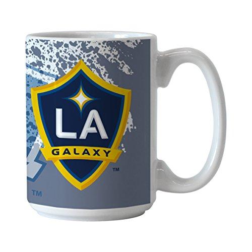 Boelter Brands MLS Los Angeles Galaxy Splatter Mug, 15-ounce