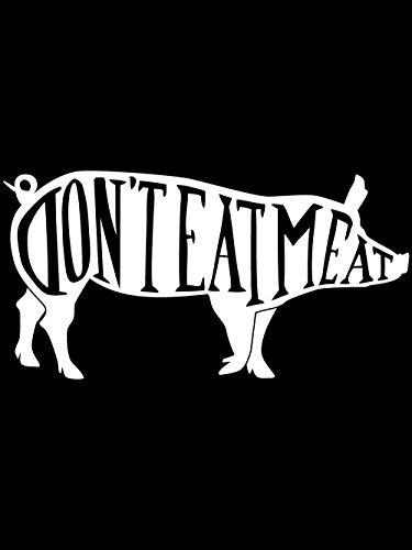clothinx Damen T-Shirt Fit Dont Eat Meat Schwarz