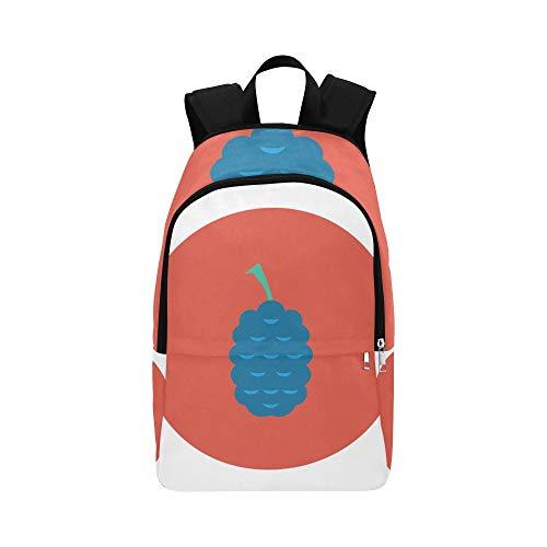 Muster mit Mulberry-Früchten lässig Daypack Reisetasche College School Rucksack für Männer und Frauen - College-mulberry