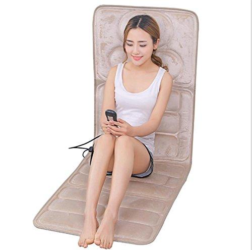 Preisvergleich Produktbild AMYMGLL Multifunktions-Heizung Massage Matratze Kissen elektrische Schlag Körpermassage Decke ältere Gesundheit Massagegeräte Massageauflage faltbar beige Größe 165 * 58 * 3 * Zentimeter