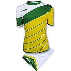 Zeus Kit Lybra Equipaciòn para el Fùtbol y el Voleibol Para Hombre Sport Pegashop Colour Amarillo-Verd-Blanco (S)