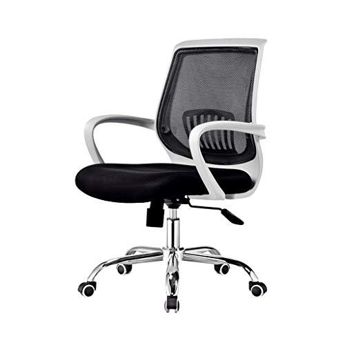 ZLFLD Bürostuhl Computersystem Drehstuhl Personal Stuhl zurück Konferenzsaal Tisch Konferenztisch weißer Tisch Orange Tischsitz Bürostuhl (Color : Black)