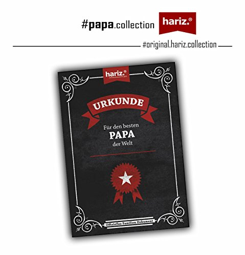 HARIZ  Papa: Original Collection T-Shirt//36 Designs Wählbar//Weiß, S-XXL//INKL. Urkunde, Geschenk I Vatertag I Geburtstag I Weihnachten #Papa21: Bester Papa du bist 2