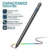 VIFLYKOO Stylus Stift, USB wiederaufladbar Active Stylus Digital Stift mit Verstellbarer Spitze für Schreiben und Zeichnenfür IOS,Android HandysiPad,Huawei,Samsung,Smartphones,Tablets - Schwarz