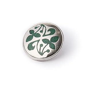 Noosa Chunk 101 Hedera silver/ green-metal