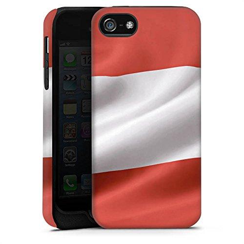 Apple iPhone X Silikon Hülle Case Schutzhülle Österreich Flagge Austria Tough Case matt