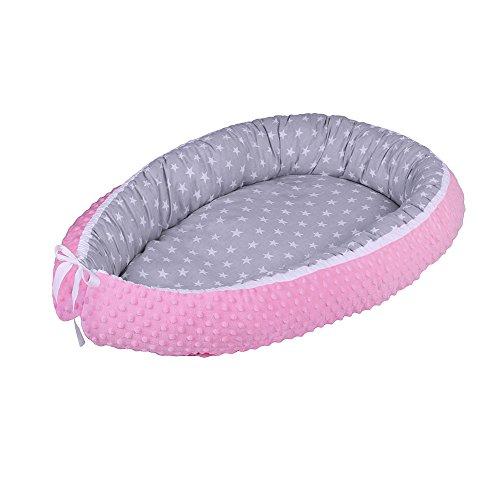 LULANDO multifunktionales Babynest Kuschelnest Babynestchen MINKY (80 x 45 cm). Weiches und sicheres Baby-Reisebett Babybett Nestchen für...