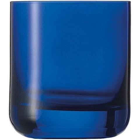 Schott Zwiesel Spots whisky tazza 60, Set di 6, bicchiere da whisky, Tumbler, bicchiere per acqua, cobalto blu, 285 ml, 117201