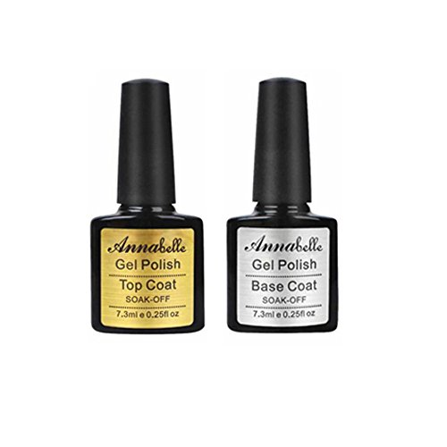 Annabelle (Top Coat +Base Coat) UV Nagellack Soak Off UV Gel Nagellack Nail Art (7.3ml/pc Lot de 2) 011