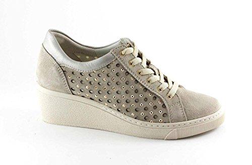 GRUNLAND CURI SC3284 beige scarpe donna comfort laccio plantare estraibile Beige