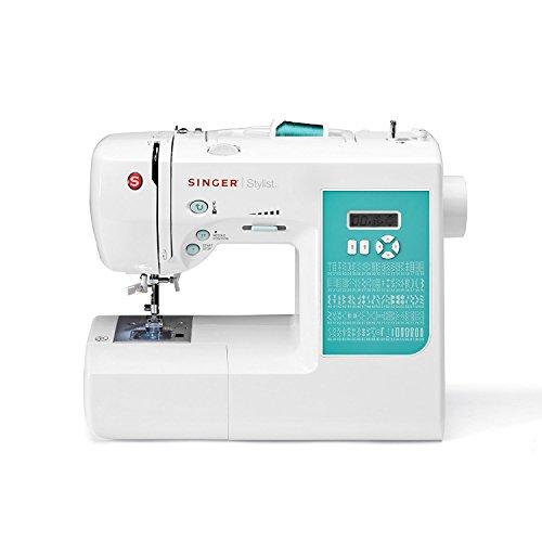 SINGER Stylist - Máquina de coser (Eléctrico, Cian, Color blanco, El pie para ojales)