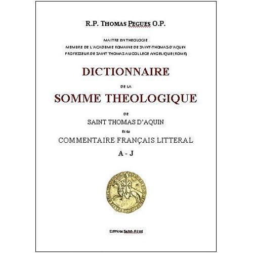 Dictionnaire de la somme théologique de saint Thomas d'Aquin