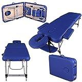 Massage Imperial® Ultra Lightweight Professional Knightsbridge Aluminium 10Kg Blue 2-Section Portable Massage Table