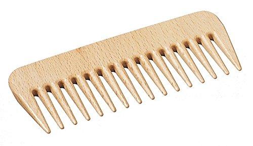 Peigne de coiffure - peigne de haute qualité avec dents grossières, peigne à boucles, peigne à mèches, peigne Afro peigne, peigne en bois de hêtre, idéal pour le voyage, long 135 mm, made in Germany