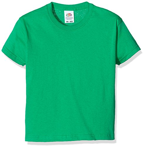 Fruit of the Loom Jungen T-Shirt SS132B, Green (Kelly), 3-4 Jahre