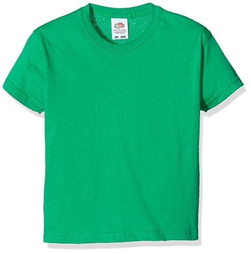 Fruit of the Loom Jungen SS132B T-Shirt, Green (Kelly), 3-4 Jahre - Jungen-kelly-grün